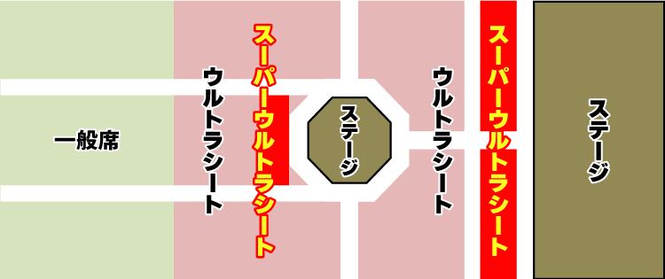 ウルトラライブステージの座席表イメージ