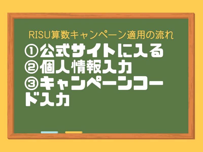 RISU算数のキャンペーン利用方法